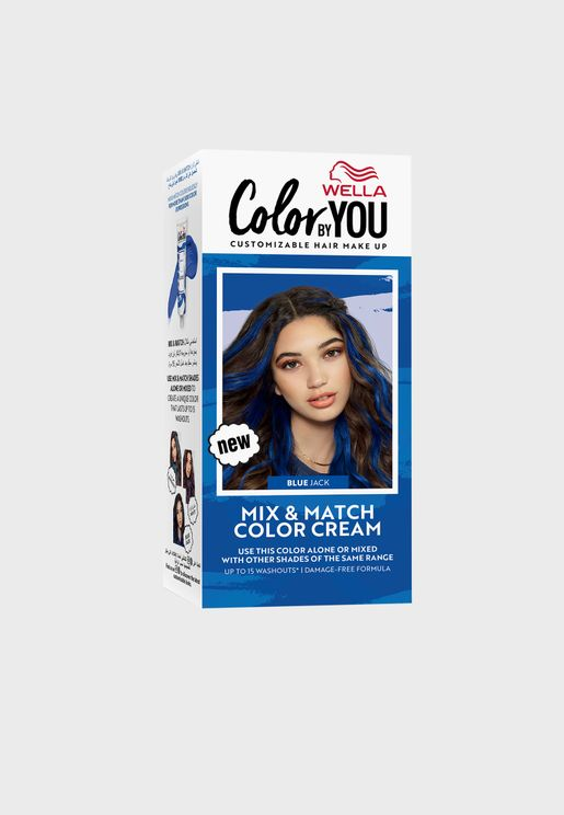 Mix & Match Hair Color Cream Blue Jack