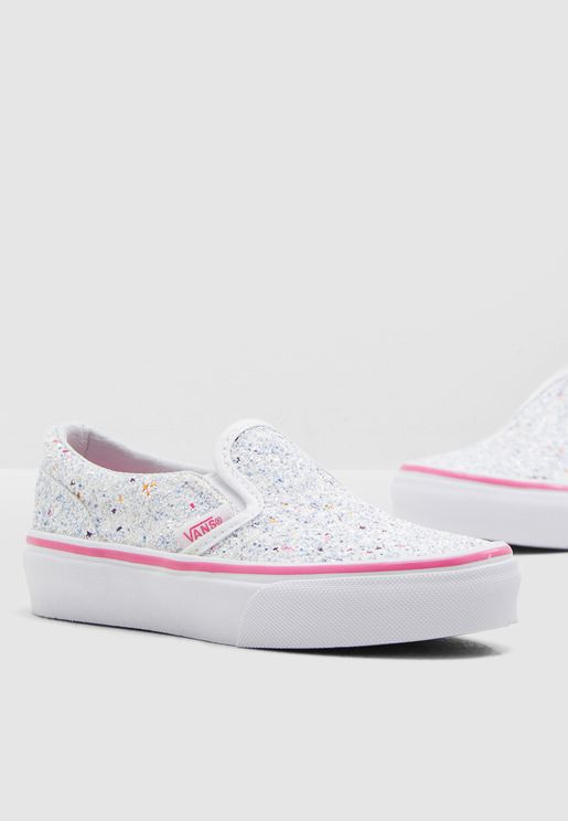 Youth Classic Glitter Stars Slip-On