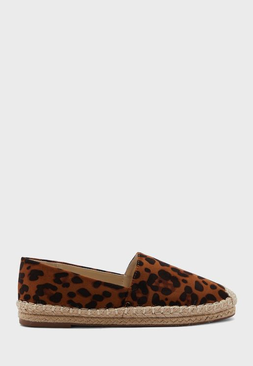 Animal Print Espadrilles