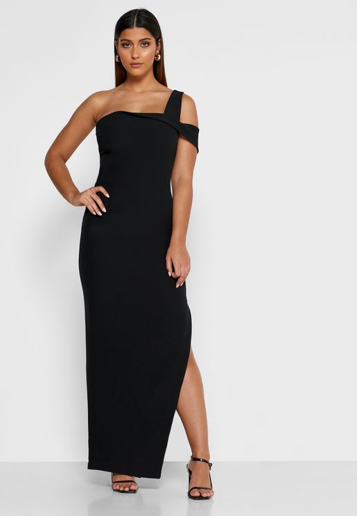 Shooting Star One Shoulder Cut Out Gown