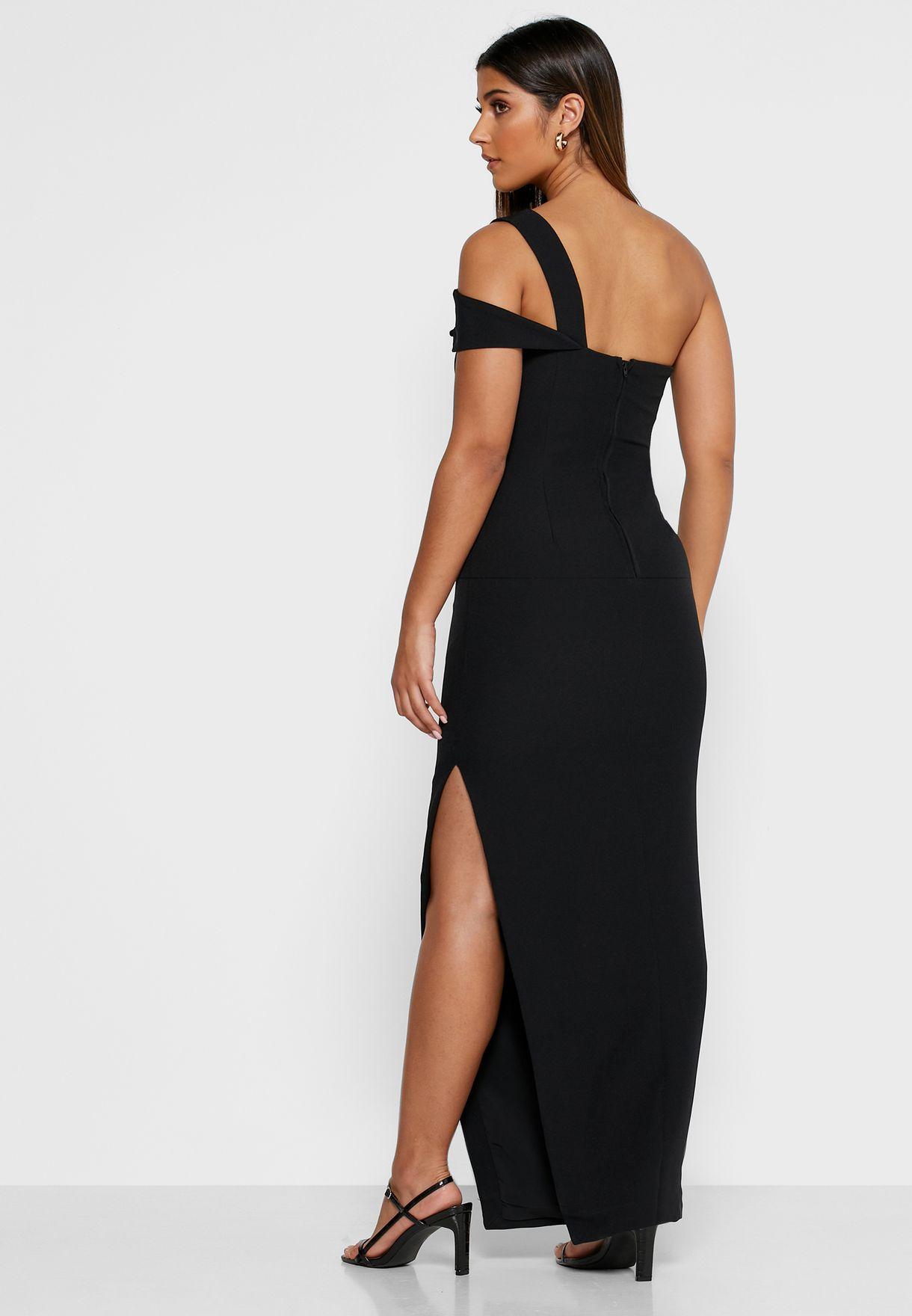 فستان عصري بكتف واحد