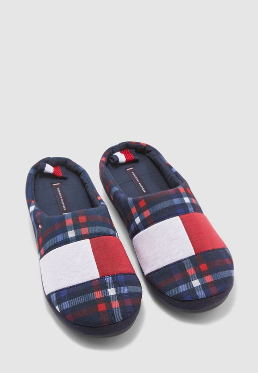 Check Print Bedroom Slippers