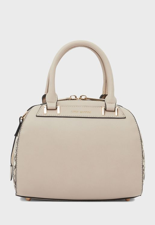 Orchid Zip Closure Satchel