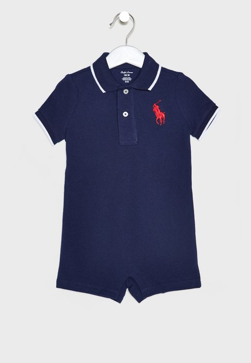 Infant Logo Polo Romper