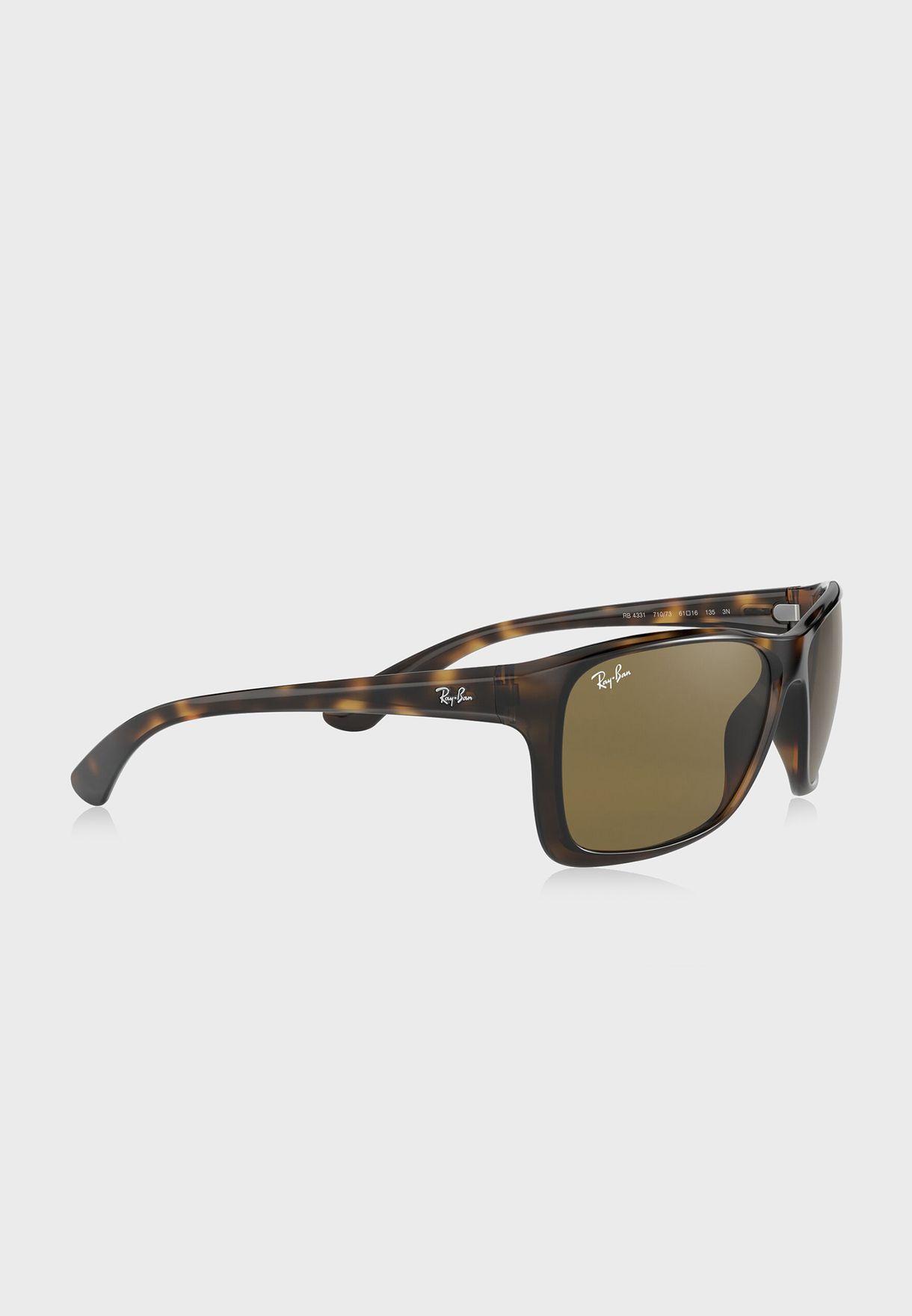 0RB4331 Square Sunglasses