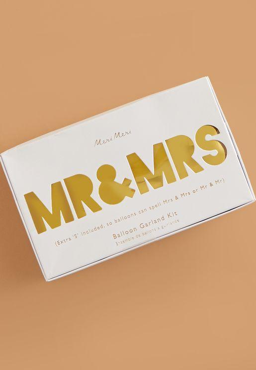 مجموعة بالونات Mr & Mrs