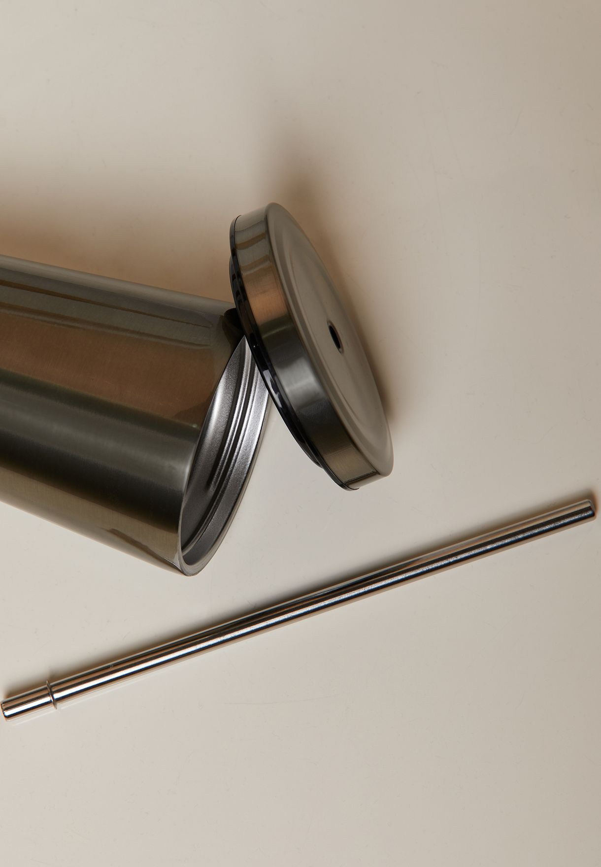 Stainless Steel Tumbler With Straw