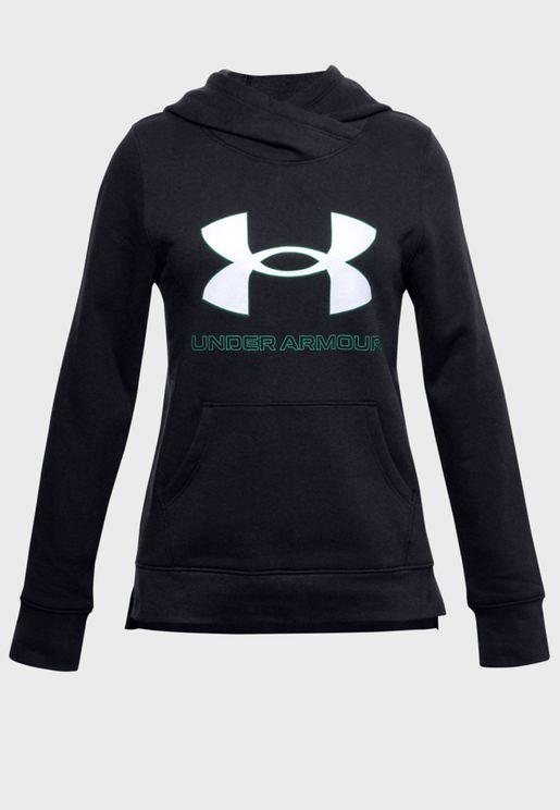 Youth Rival Fleece Logo Hoodie