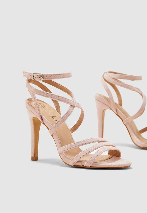 Asymmetric Strappy Sandal