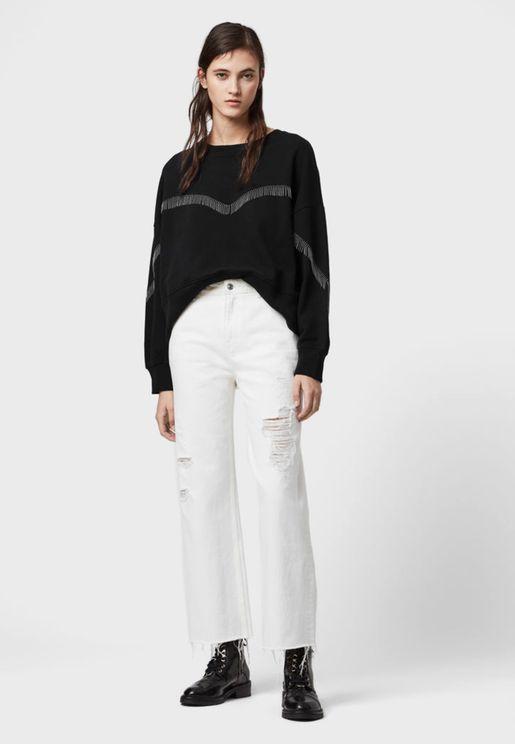Uda Contrast Detail Sweatshirt