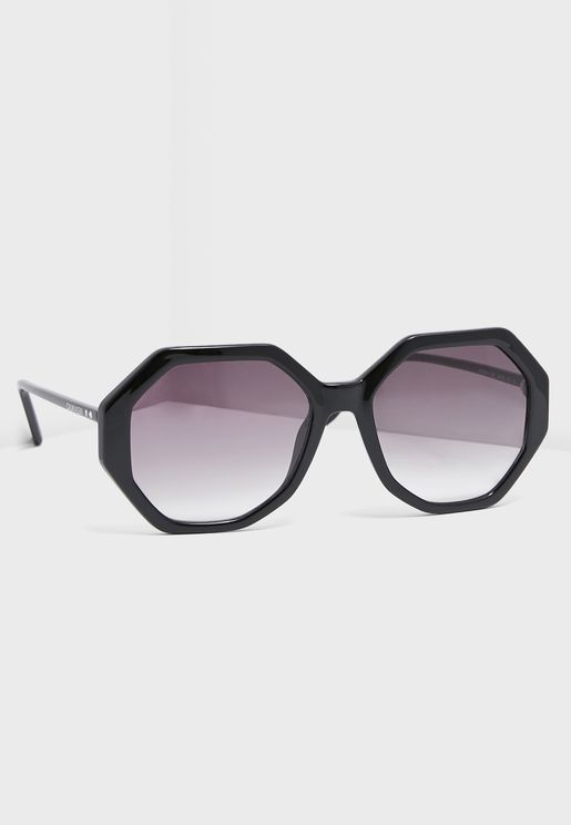 CK19502S Hexagonal Sunglasses