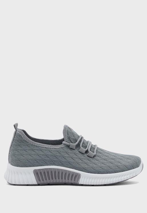 Textured Knit Sneaker