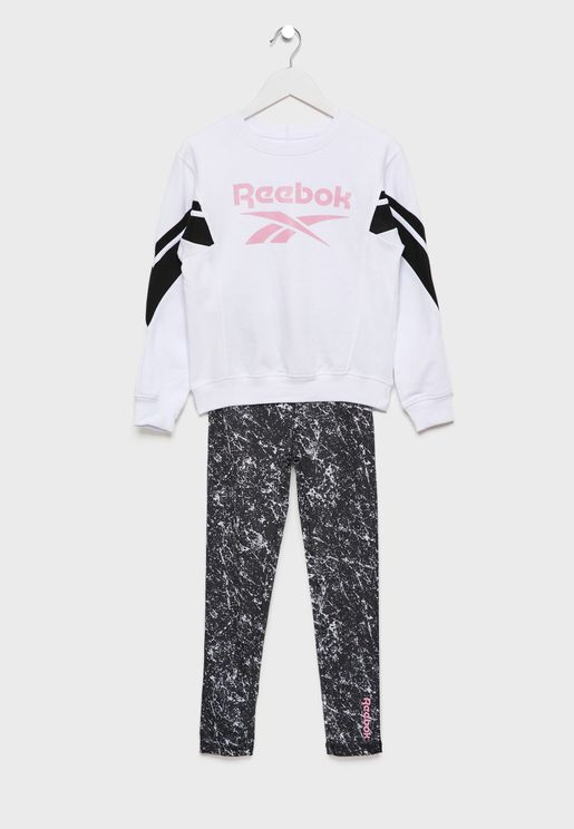 Youth Logo Marble Tracksuit