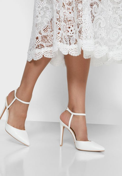 Pumps With Ankle Strap Detail