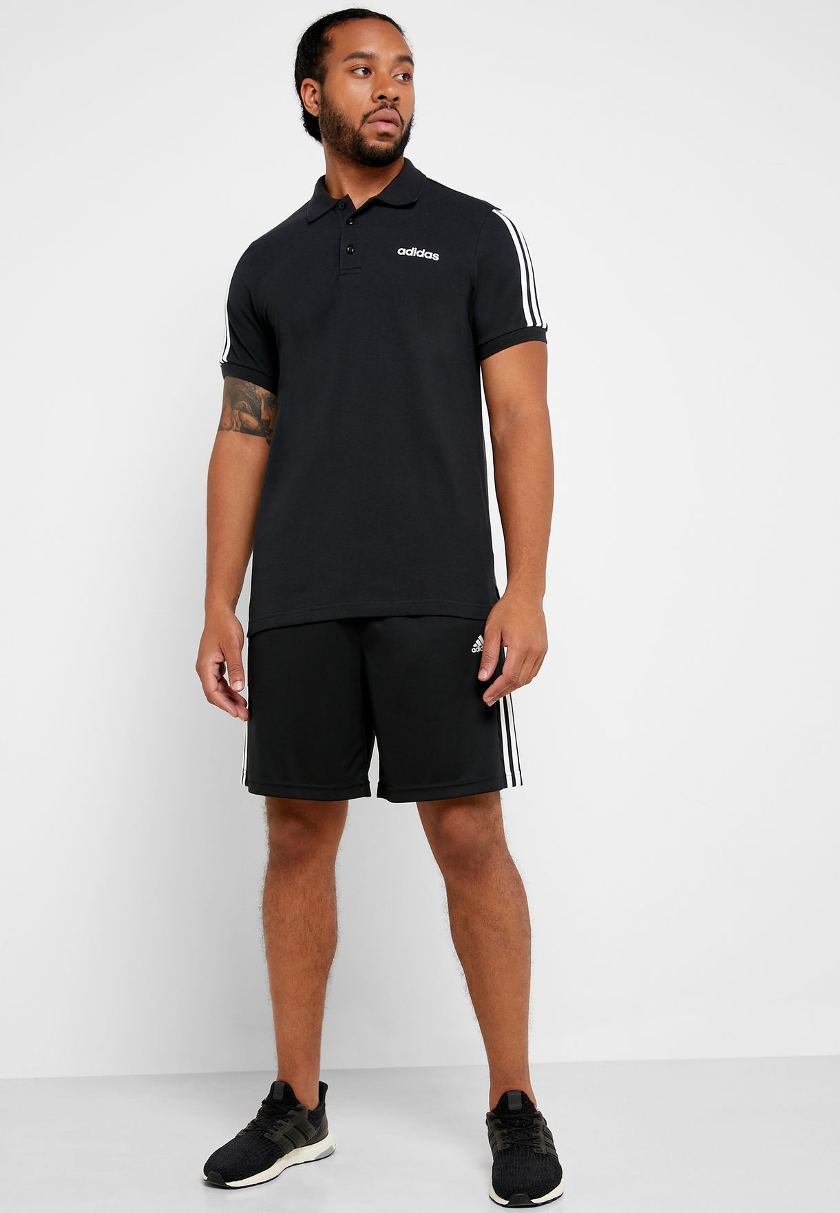 3 Stripe Essential Polo