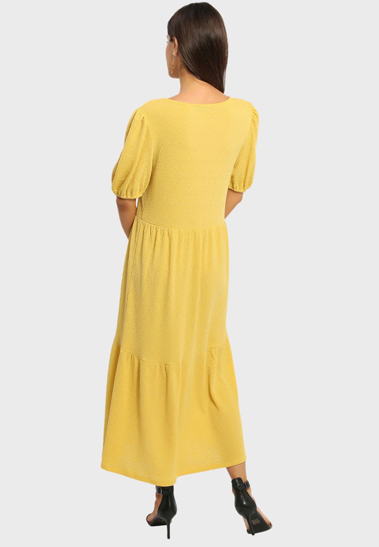 فستان محبوك بكسرات