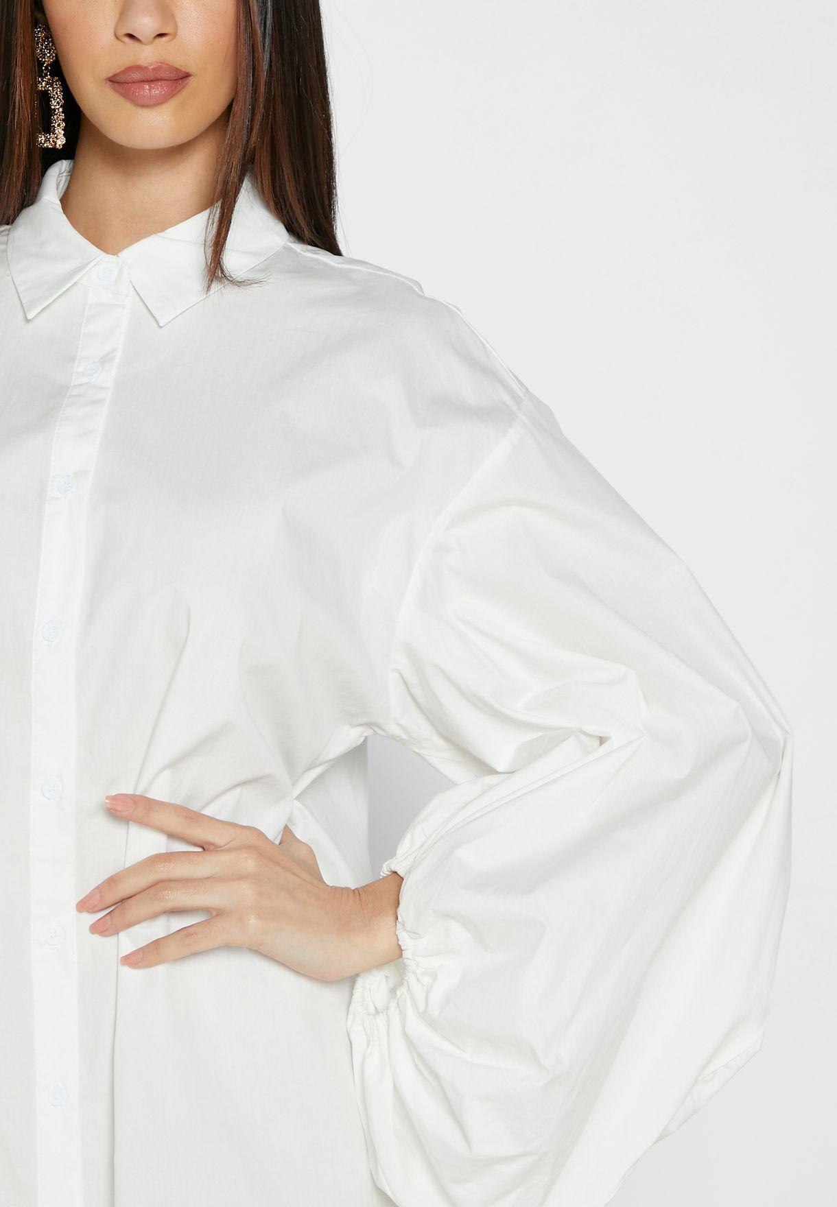 فستان باكمام منفوخة