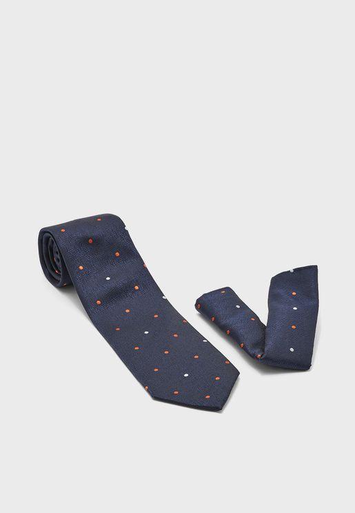 Formal Tie and Pocket Square Set