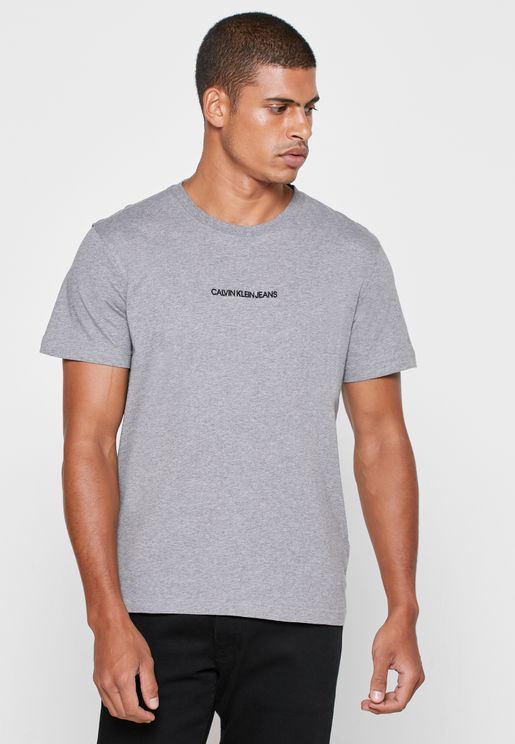 Institutional Chest Logo Crew Neck T-Shirt