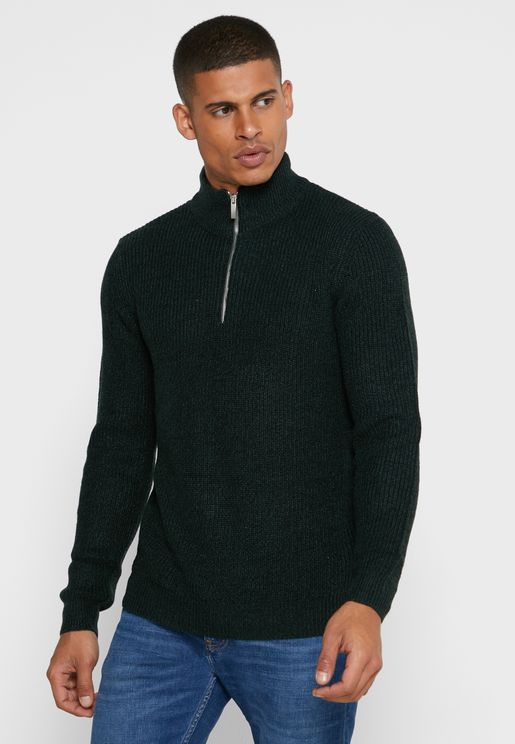 Knitted Half Zip Sweater