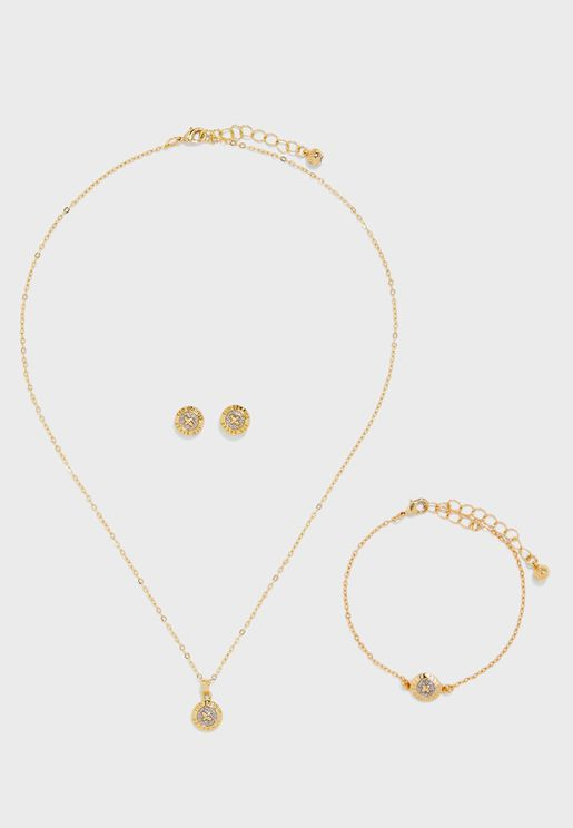 Emilina Mini Necklace Button Set