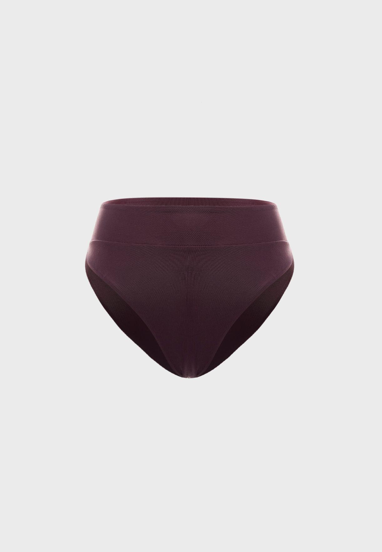 سروال بكيني بخصر مرتفع