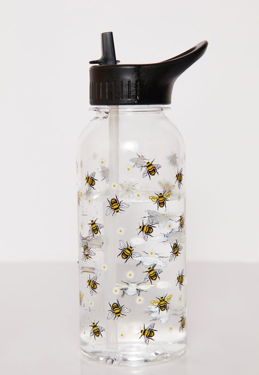 Bee Printed Water Bottle