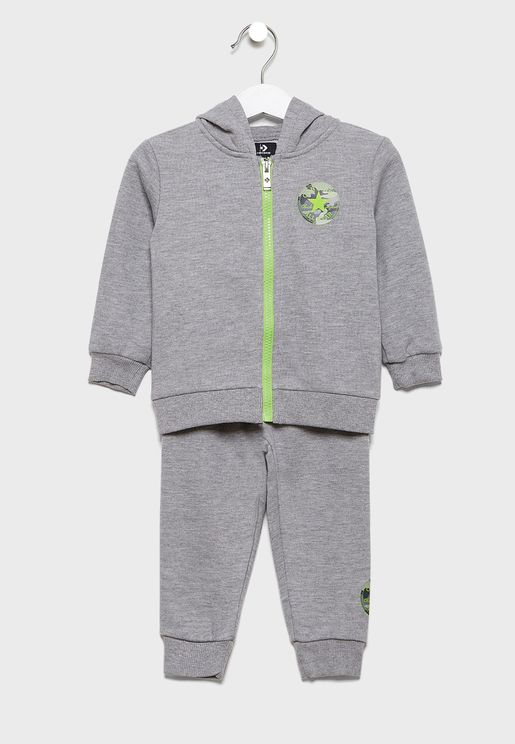 Infant Colour Block Hooded Tracksuit