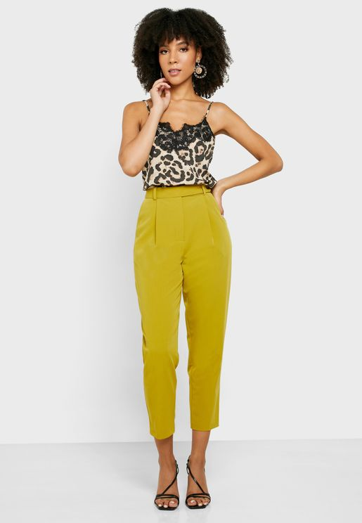 Seam Detail High Waist Pants