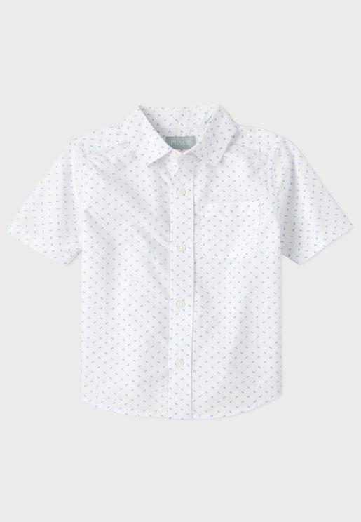 Kids Button Detail Shirt