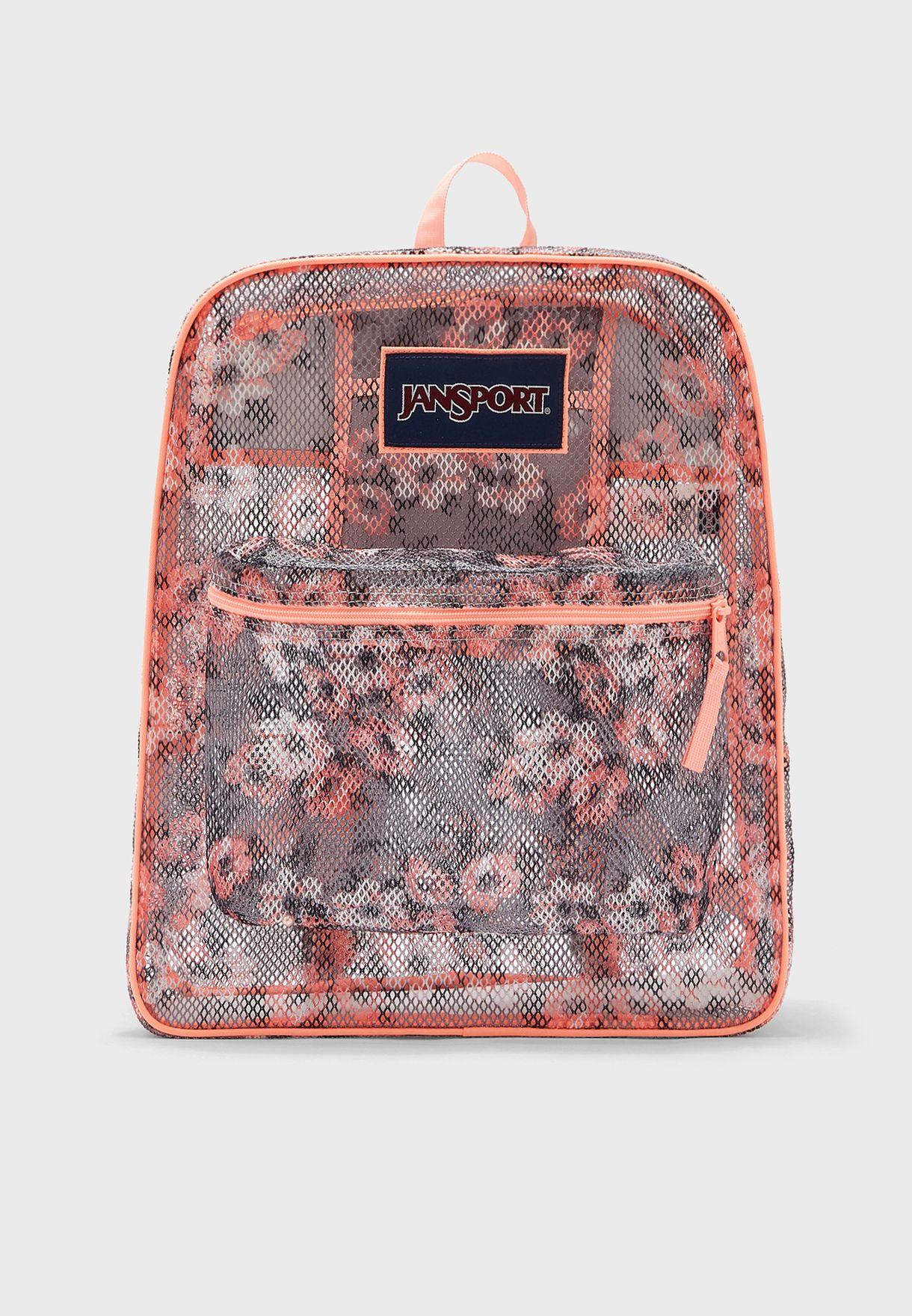 Pretty Posey Mesh Backpack