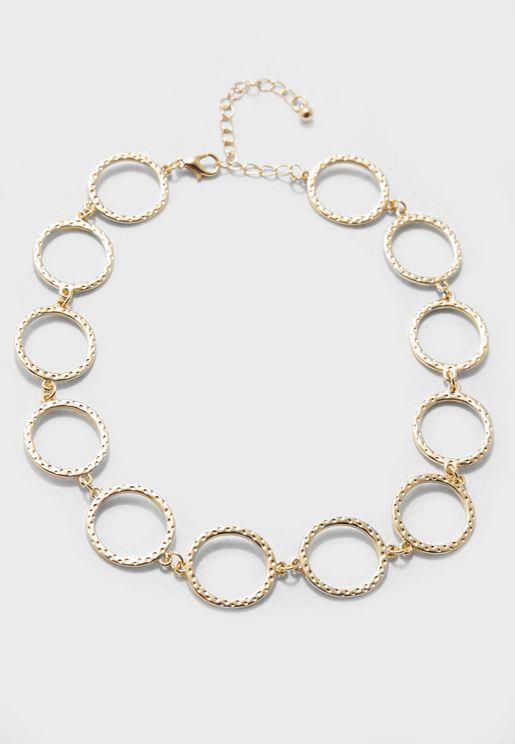 Oversized Circular Necklace