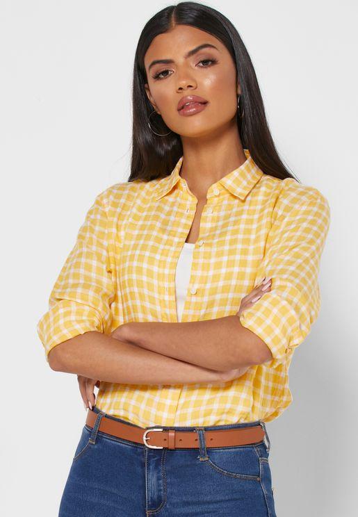 Gingham Button Down Shirt