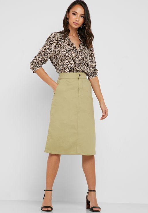 Cargo Pocket Detail Skirt