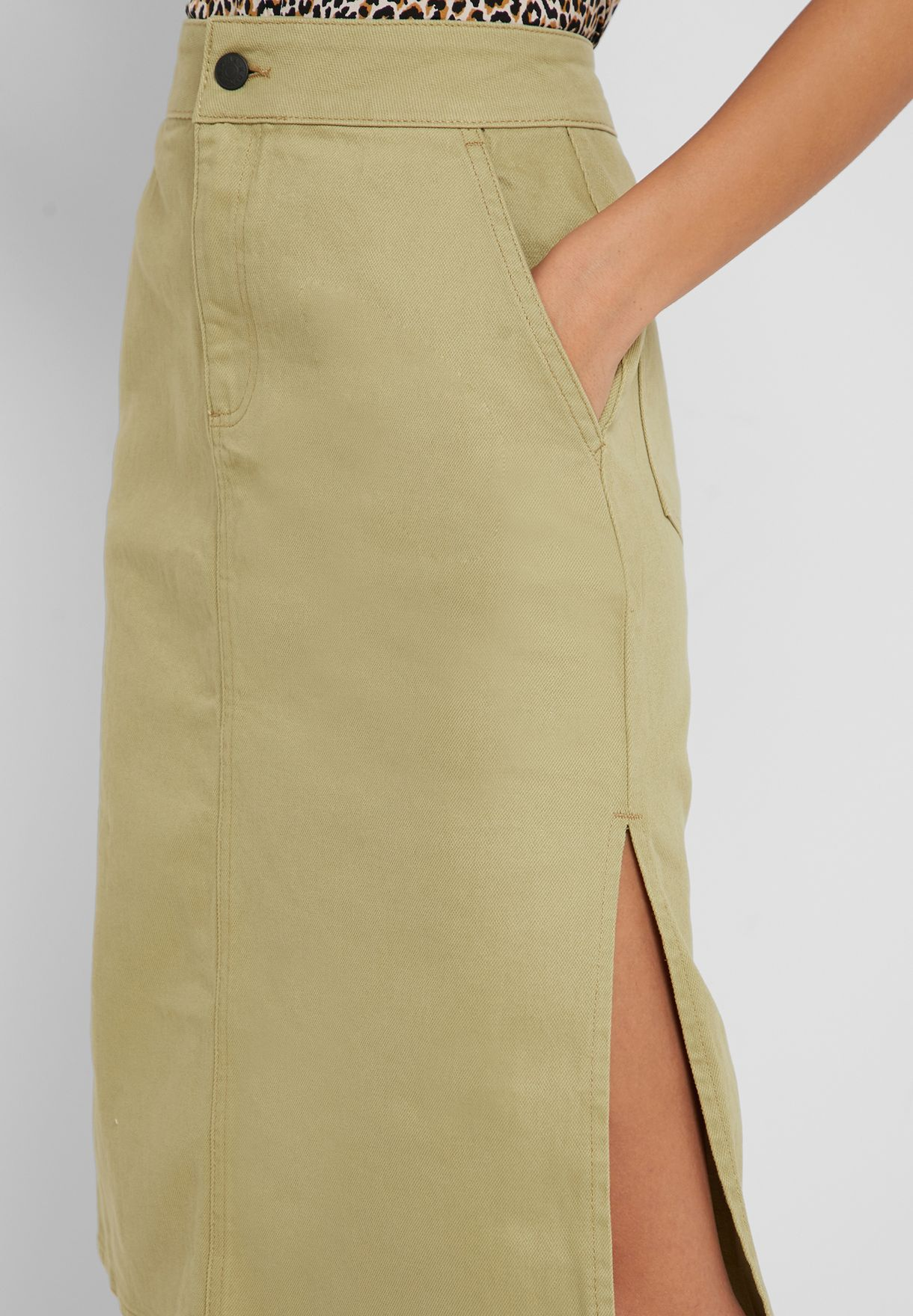 Cargo Pocket Detail Skirt