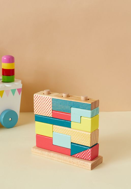 Kids Geometric Shaped Stack Puzzle
