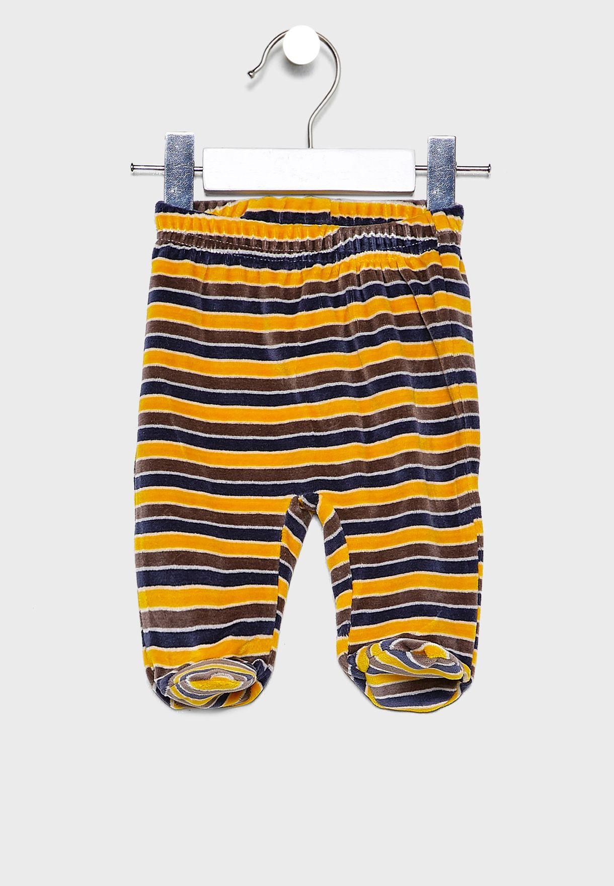 Infant Striped Sweatshirt + Sweatpants Set