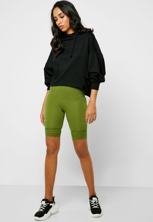 Lace Hem Cycling Shorts