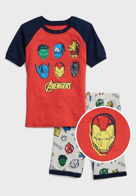 Kids Marvel T-Shirt + Shorts Set