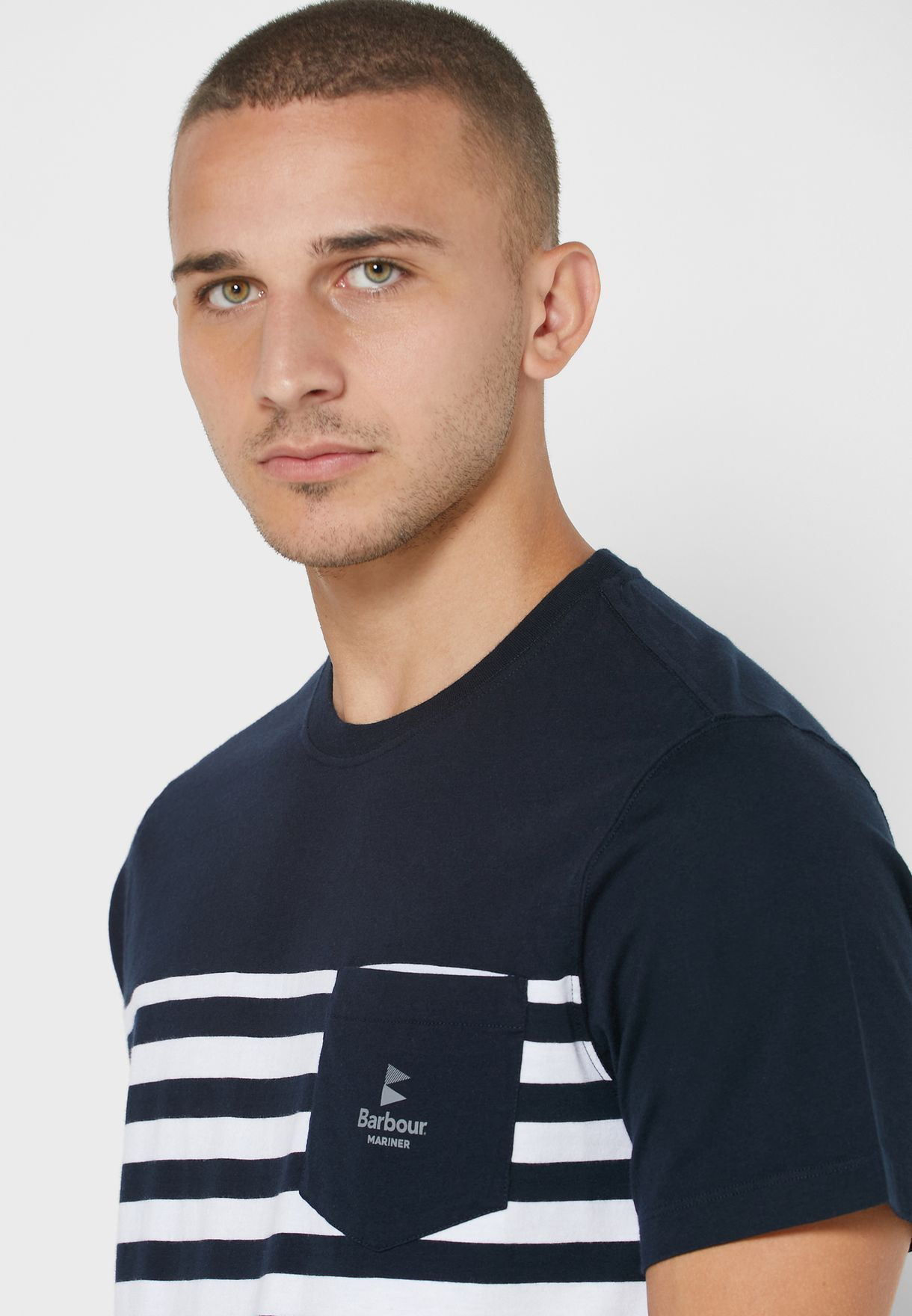Ammon Striped Crew Neck T-Shirt