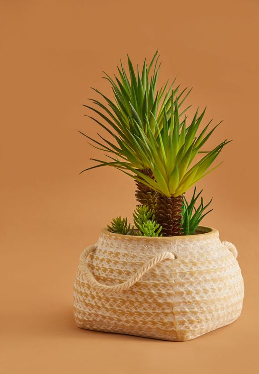 Ceramic Basket Pot