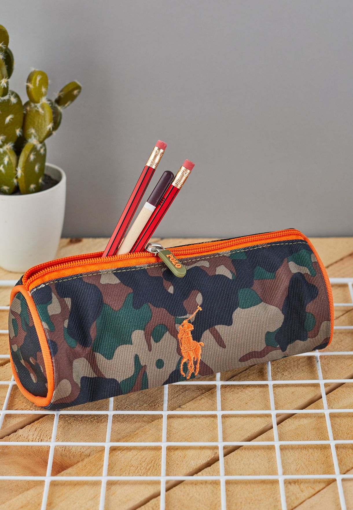 Kids Camo Printed Pencil Case