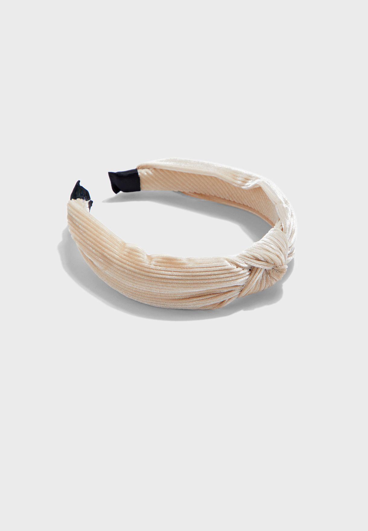 Velvet Knot Ribbed Aliceband