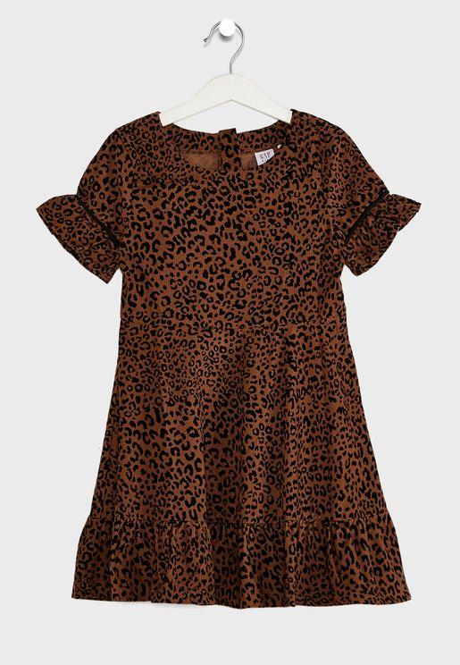 فستان بطبعة ليوبارد