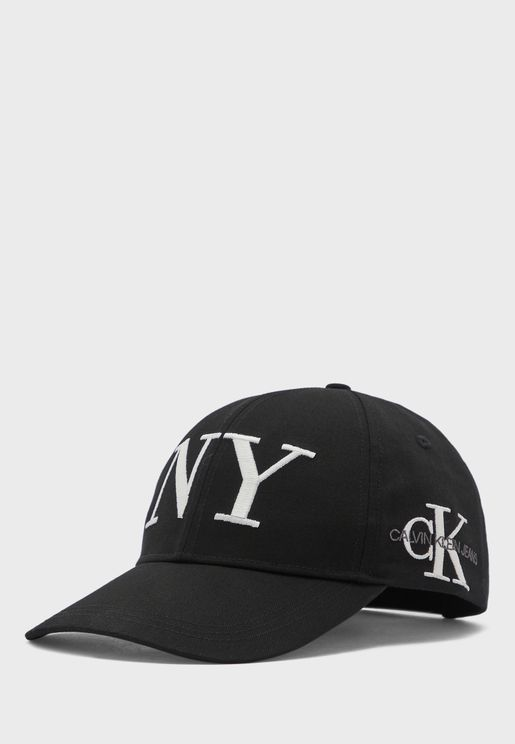 Embroidered Logo Curved Peak Cap