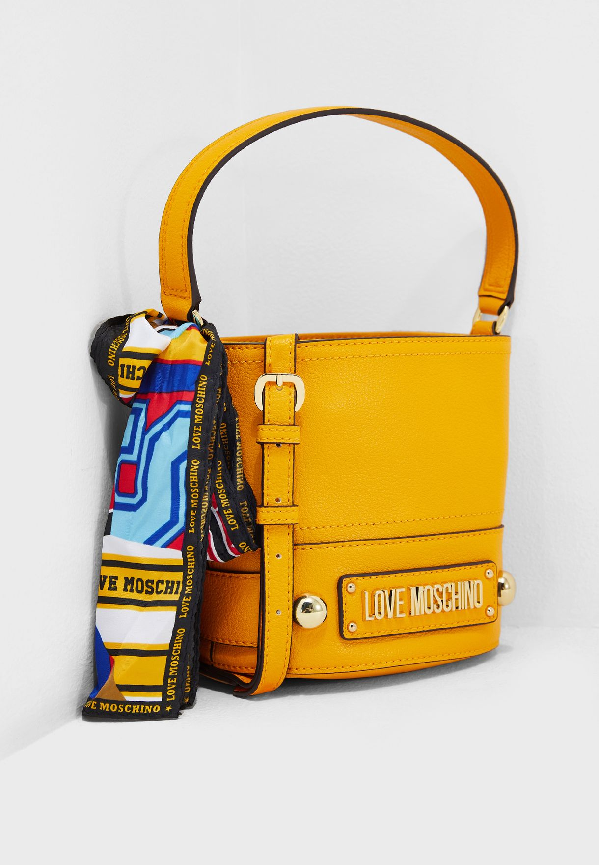 Love Moschino Yellow Bucket Bag