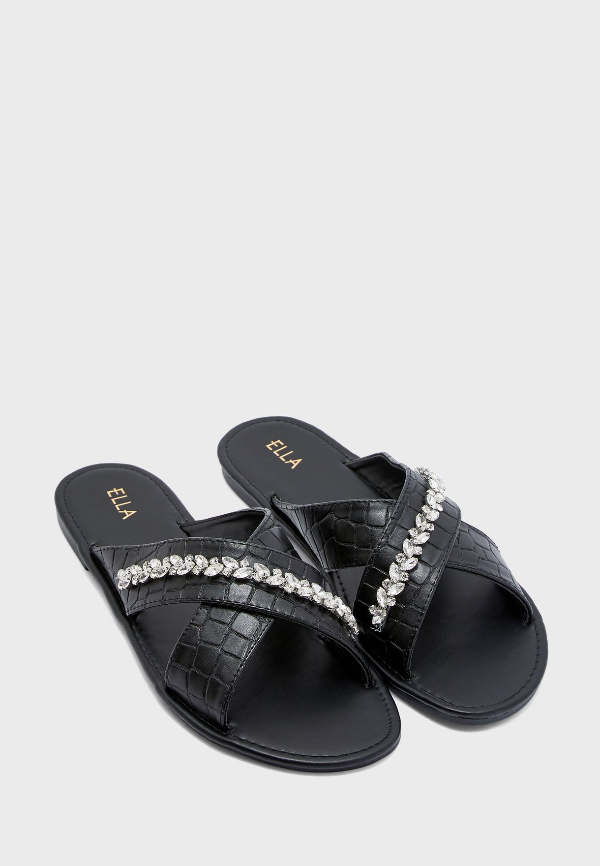 Diamante Trim Sandals