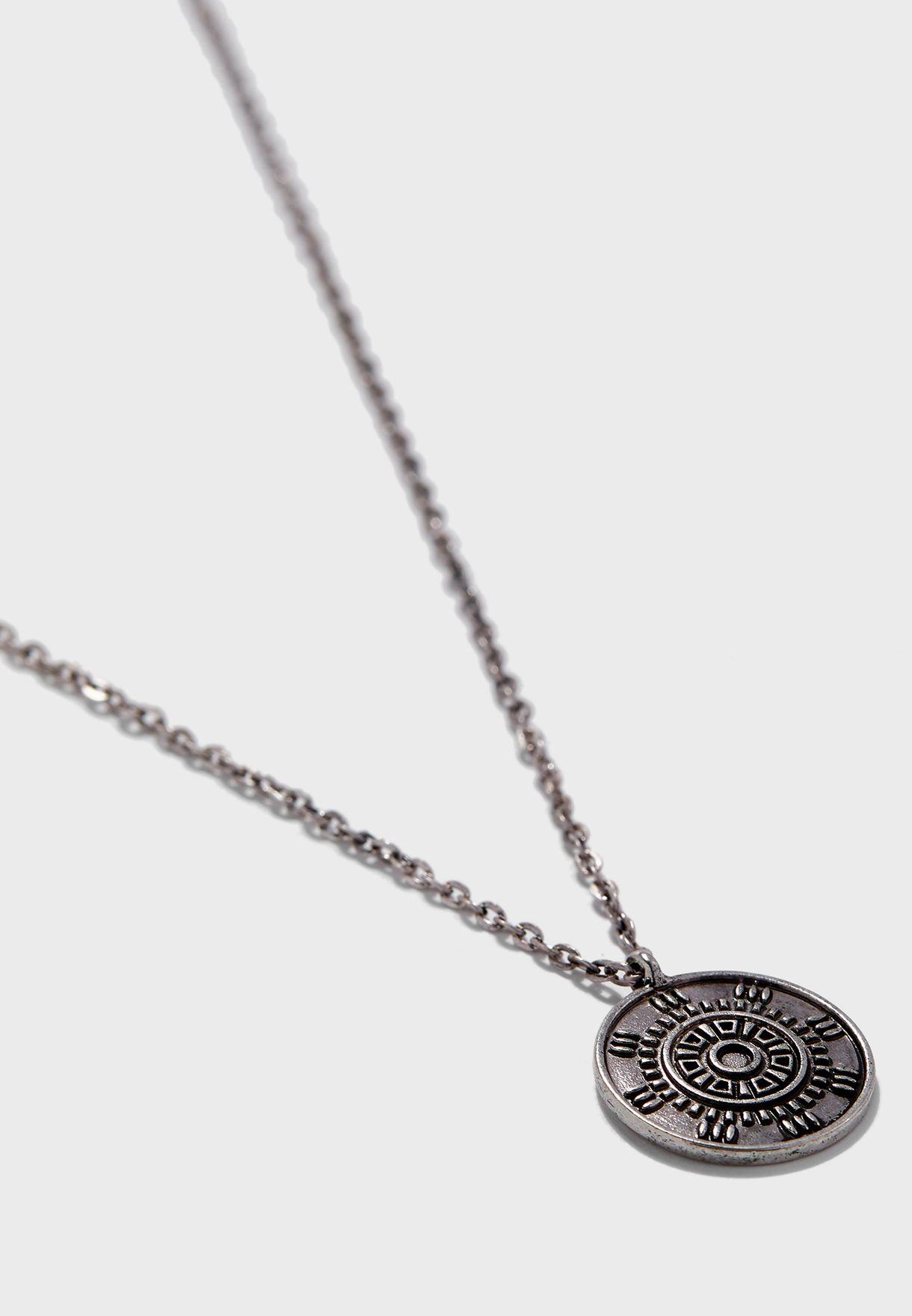 Disk Pendant Necklace