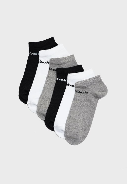 6 Pack Active Core Inside Socks