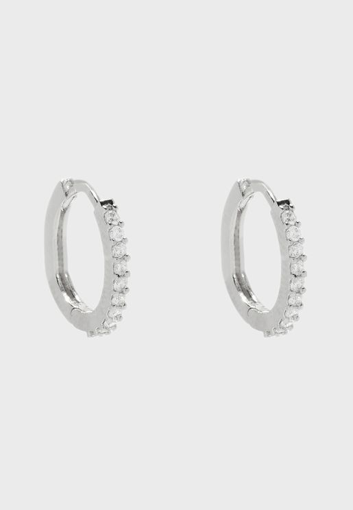 Mini Pave Hoop Earrings